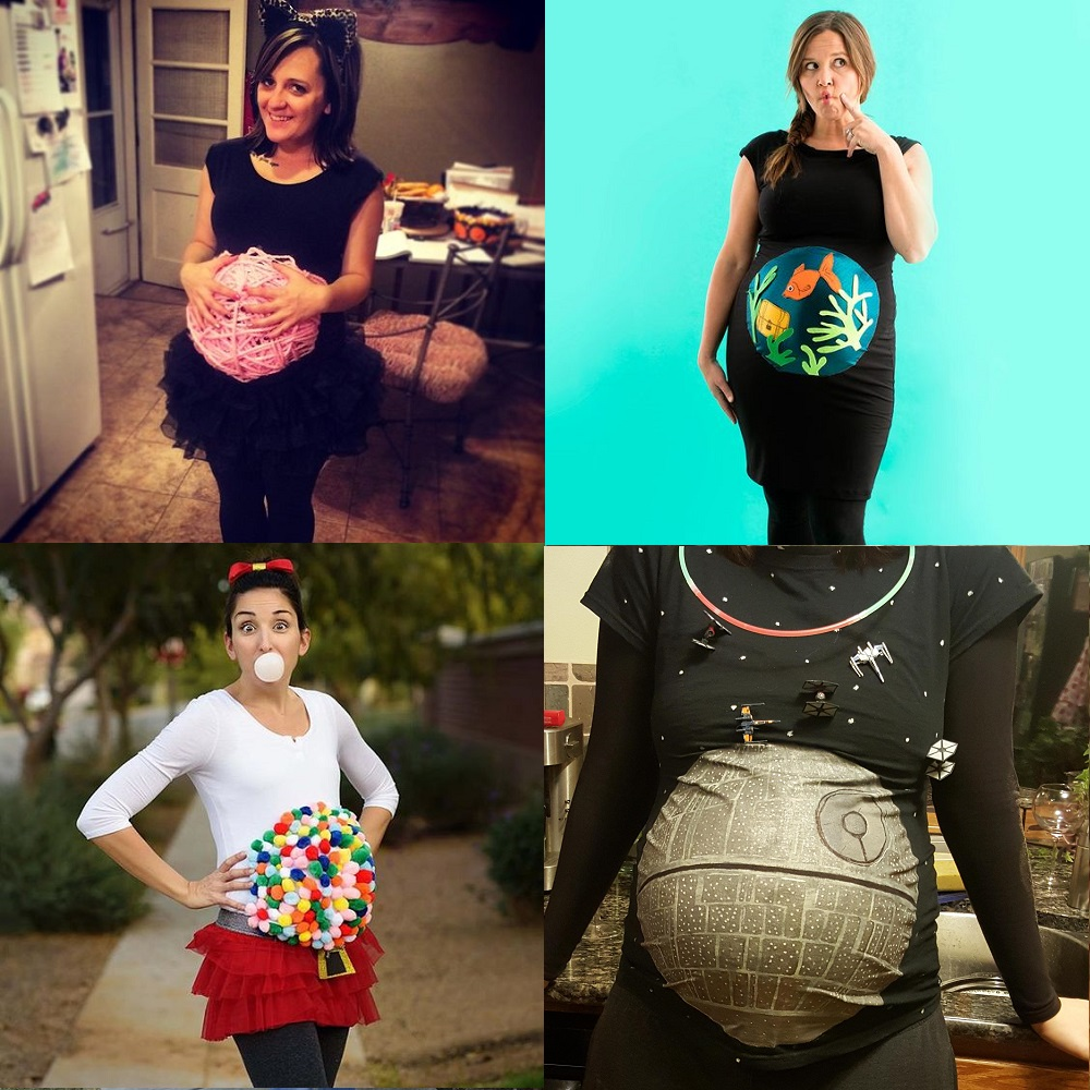 (Links to costume ideas clockwise from top left  Kitty with Ball of Yarn  Source Unknown  Aquarium by Brit+Co  Bubble Gum Machine Posted by Art  Photography ... 0fa563b0b