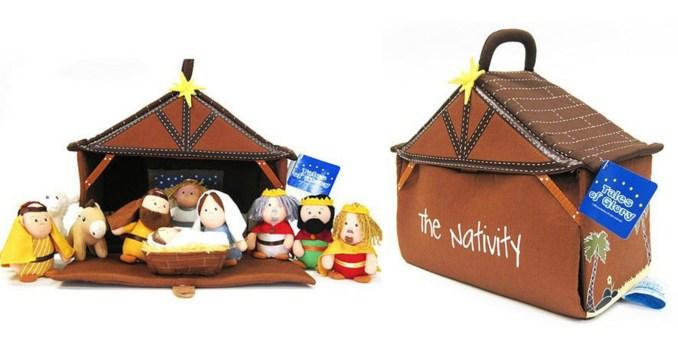 kids plush nativity set