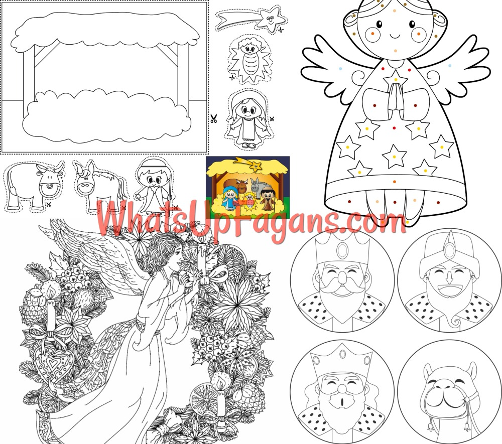 picture regarding Printable Nativity Coloring Page titled 12 Absolutely free Printable Nativity Coloring Webpages for Little ones