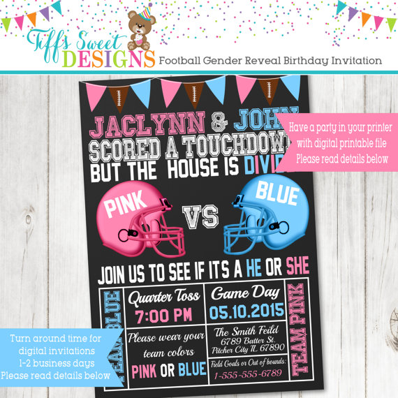photograph relating to Printable Gender Reveal Invitations identify 15 Lovely Little one Gender Describe Bash Invites
