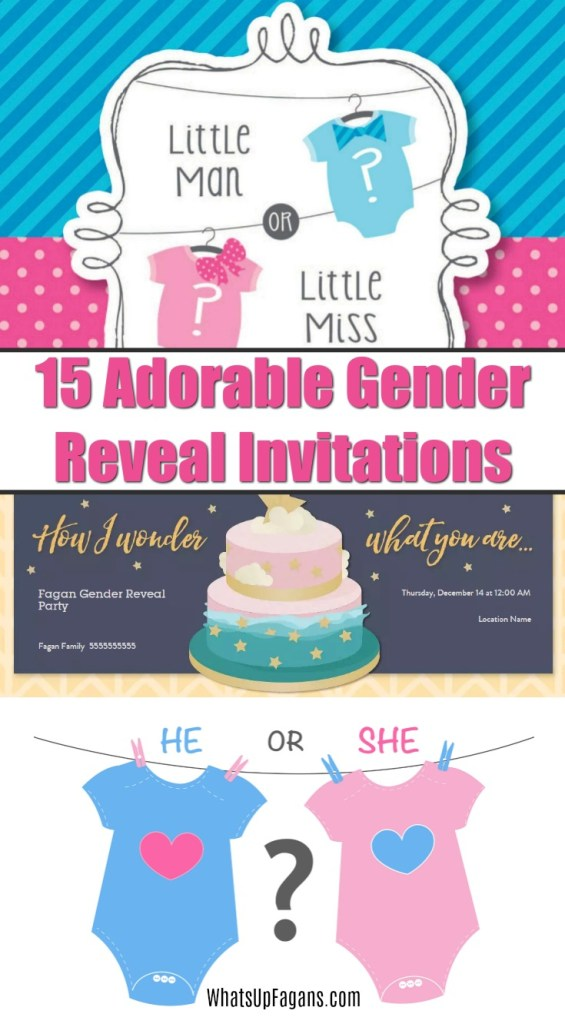 gender reveal invitations - gender reveal party invites