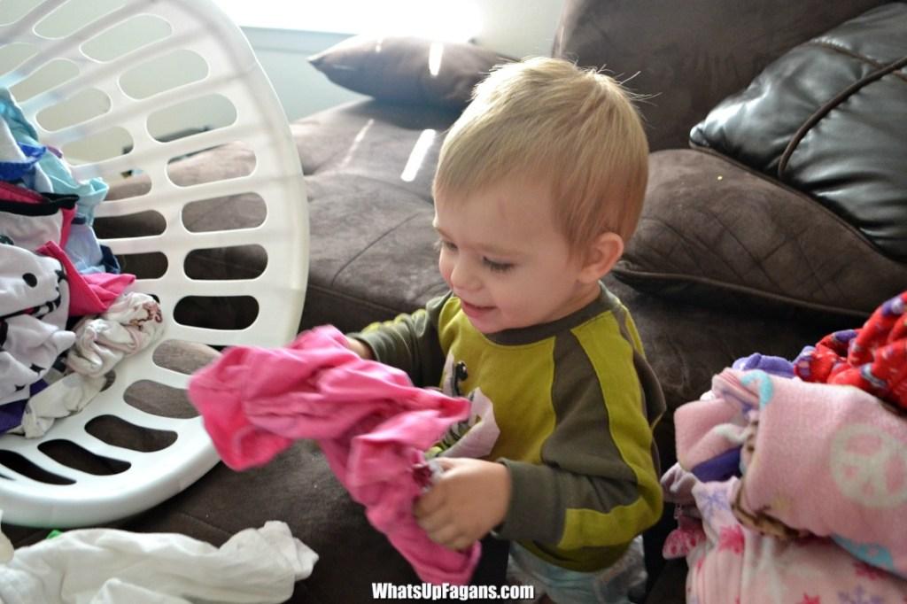 teach kids how to do laundry - laundry skills