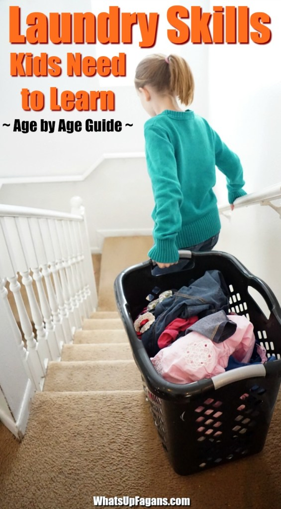 how to teach kids to do laundry - laundry skills - laundry chores