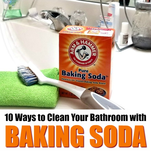 10 ways to clean your bathroom with baking soda.