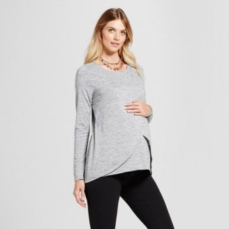 9baf0086cdcb9 ... affordable nursing top is not easy. There s not a whole lot of  selection overall. That s why this long sleeve nursing top from Target is a  great find!