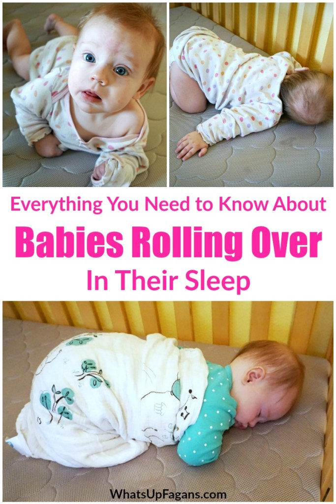 baby rolling over in sleep - what to do about baby rolling over in sleep