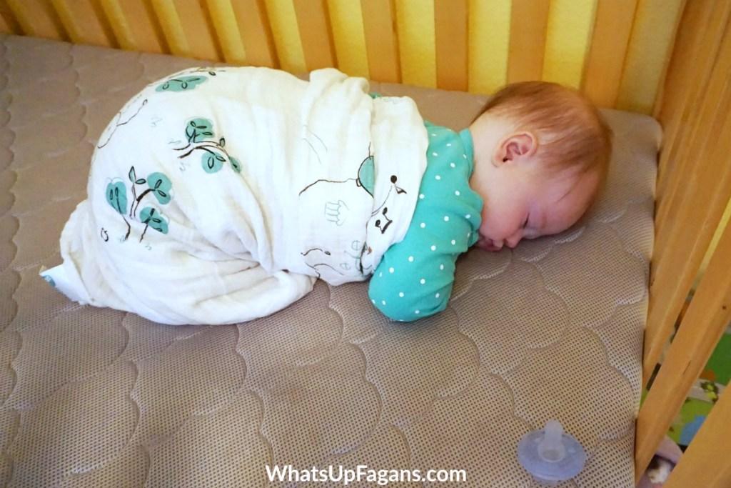 baby rolls over in sleep