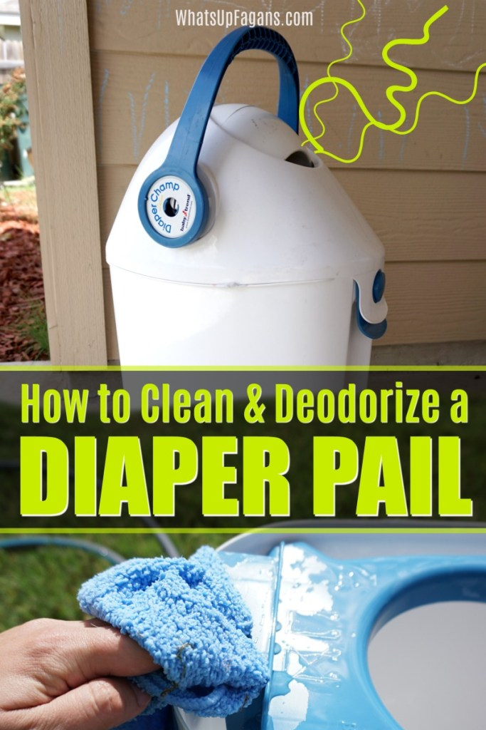 how to get rid of diaper smell - cleaning tutorial for removing diaper pail smell and odor