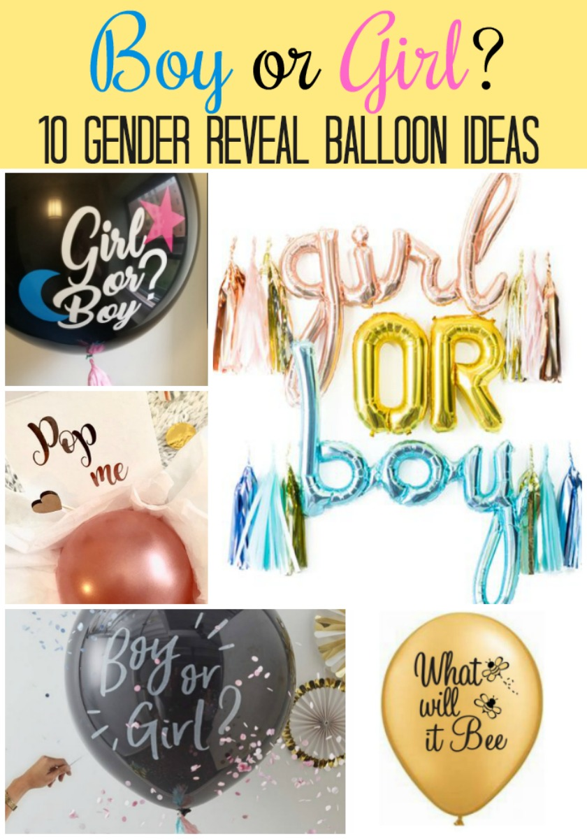 10 gender reveal balloon ideas plus tips on where to buy them, how to make your own, and more! #genderreveal #pregnancy #babyshower #genderrevealparty #balloon #balloons #partyballoons #genderreveals #confetti #party