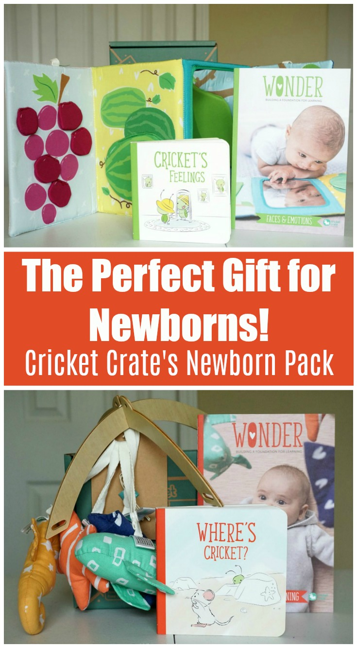 Take a peek inside the new Cricket Crate Newborn Pack! It's KiwiCo's newest offering just for babies ages 1-3 months old! Check out my Cricket Crate review and snag the three boxes for yourself or a friend! It's make the perfect Baby Shower gift! #kiwico #unboxing #newborns #babies #pregnancy #giftideas #babyshower #babyshowergift