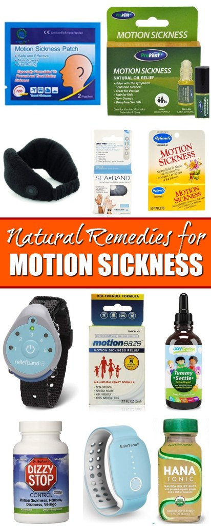 collection of natural remedies for car sickness