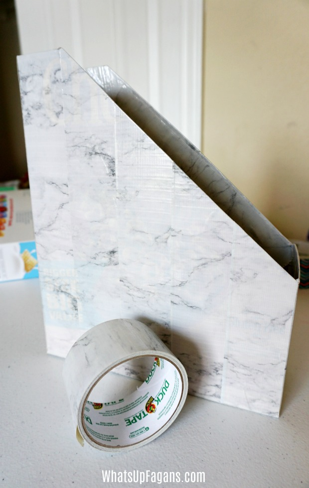 pinterest homeschool room - How to use Duck brand duct tape to make homeschool curriculum magazine holder