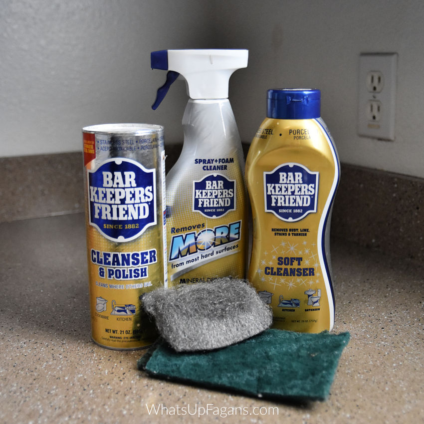 list of bar keepers friend ingredients in cleanser and polish, more, and soft cleanser