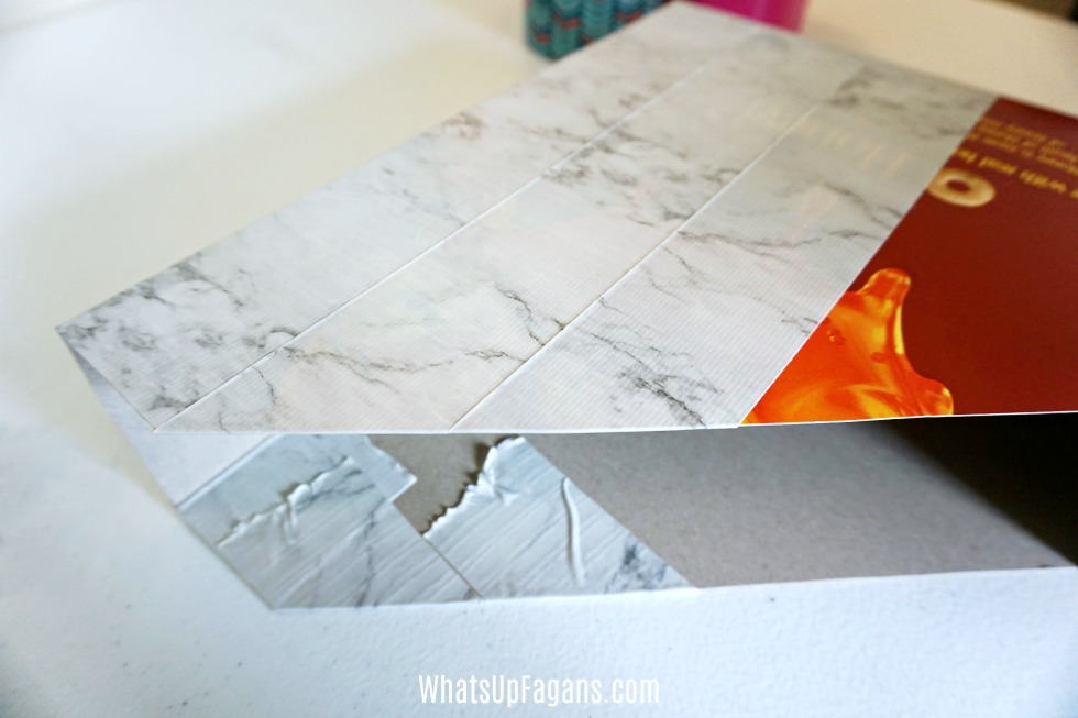 making a homeschool organizing tool with duck tape