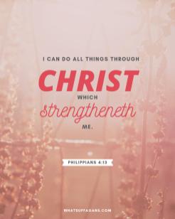 1 - Philippians 4 13 - postitive attitude scriptures