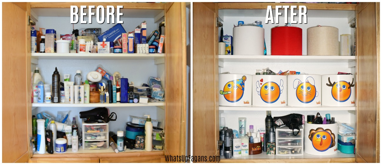 ... Take Some Time (at Least An Hour Is My Guess) But Keeping Things In  Containers With Like Items Is A Huge Improvement Upon The Cluttered Bathroom  Closet ...