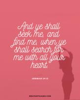 positive thinking scripture - Jeremiah 29_13