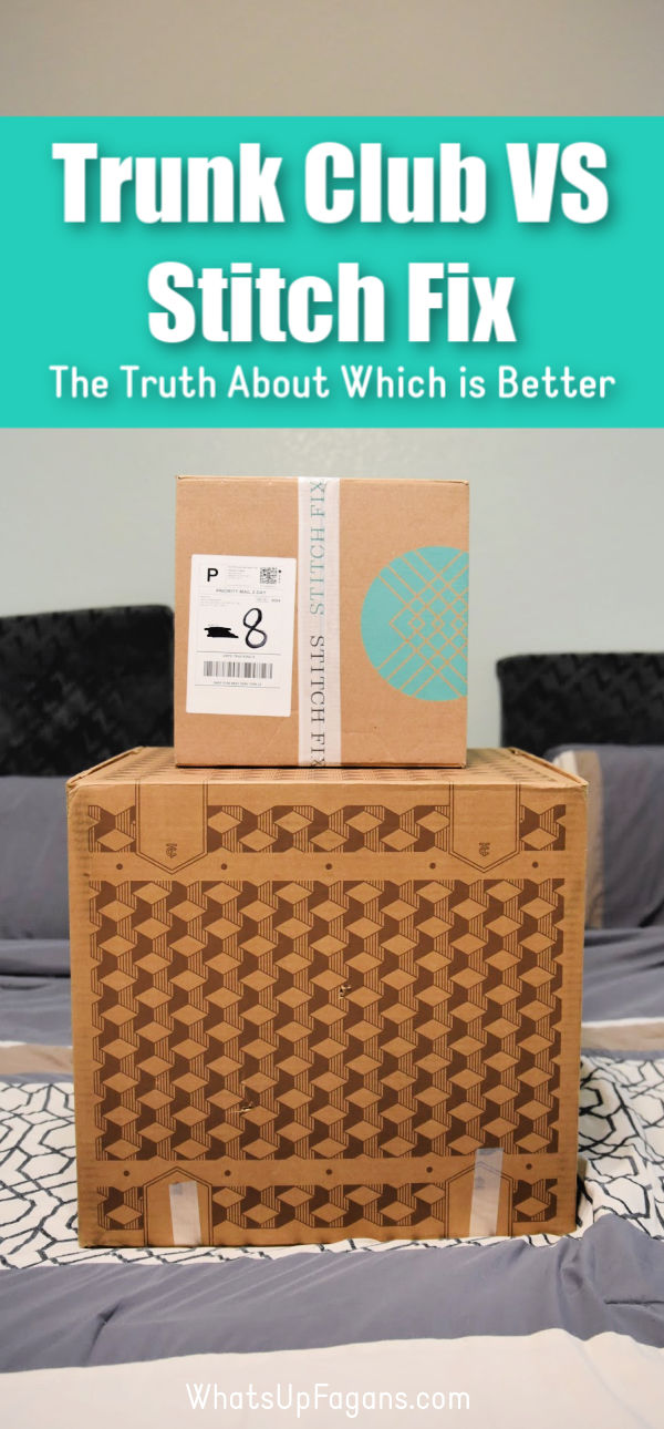 Wanna compare Trunk Club vs Stitch Fix? I've used both services multiple times and have the answers you want when comparing Stitch Fix to Trunk Club personal styling for women's clothing via monthly subscription box. #subscriptionbox #style #fashion #clothes #stitchfix #trunkclub #personalstyling #womensclothes #womensfashion #unboxing #review