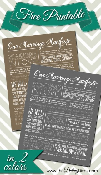 family mission statement for married couples example from The Dating Divas