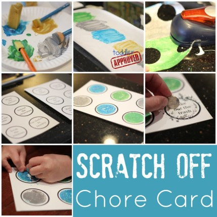 Scratch Off Chore Card idea from Toddler Approves the helps moms in making chores fun for kids