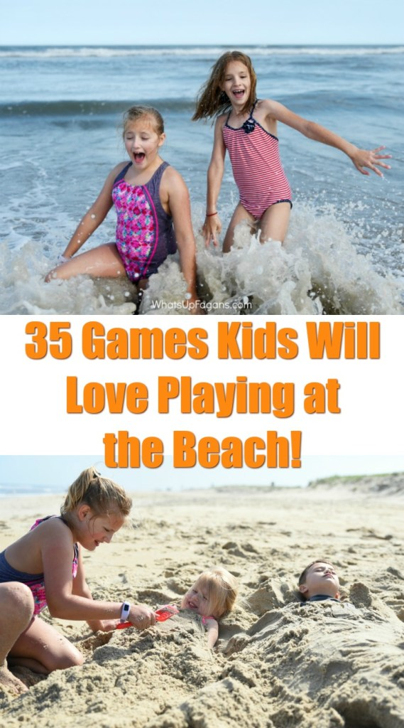 games played on the beach by children with the sand and water that make for fun beach games