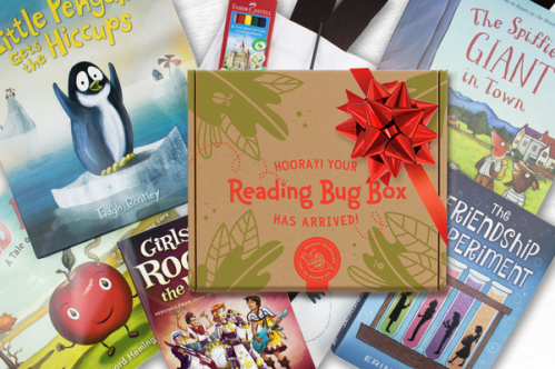 The reading Bug Box is a monthly subscription of children's books