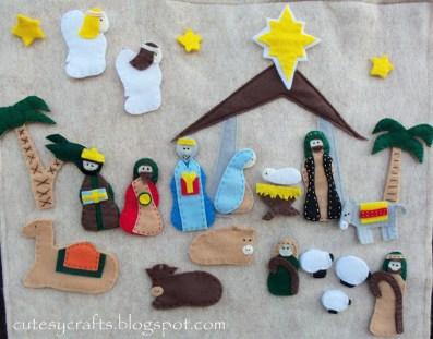 handmade felt nativity advent calendar craft