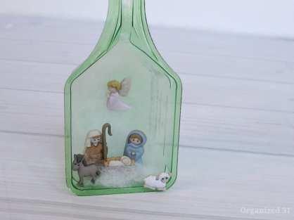 recycled laundry scoop nativity craft scene