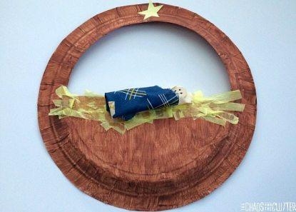 paper nativity craft using paper plate