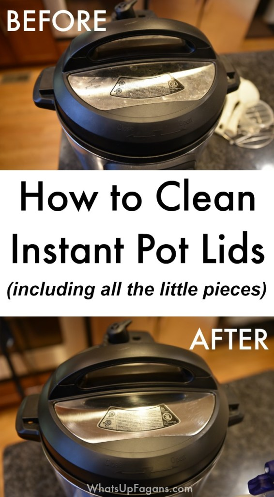 best way to clean instant pot lid - a step by step cleaning tutorial on how to clean the instant pot lid and all the different pieces like the sealing ring, float valve and silicone cover, anti-block shield, steam release handle, and the lid itself! great kitchen cleaning tip! Even include information on whether or not instant pot lids are dishwasher safe