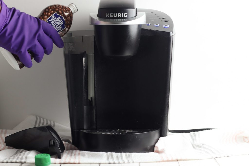 how to descale a Keurig coffee maker using Bar Keepers Friend Coffee Maker Descaler