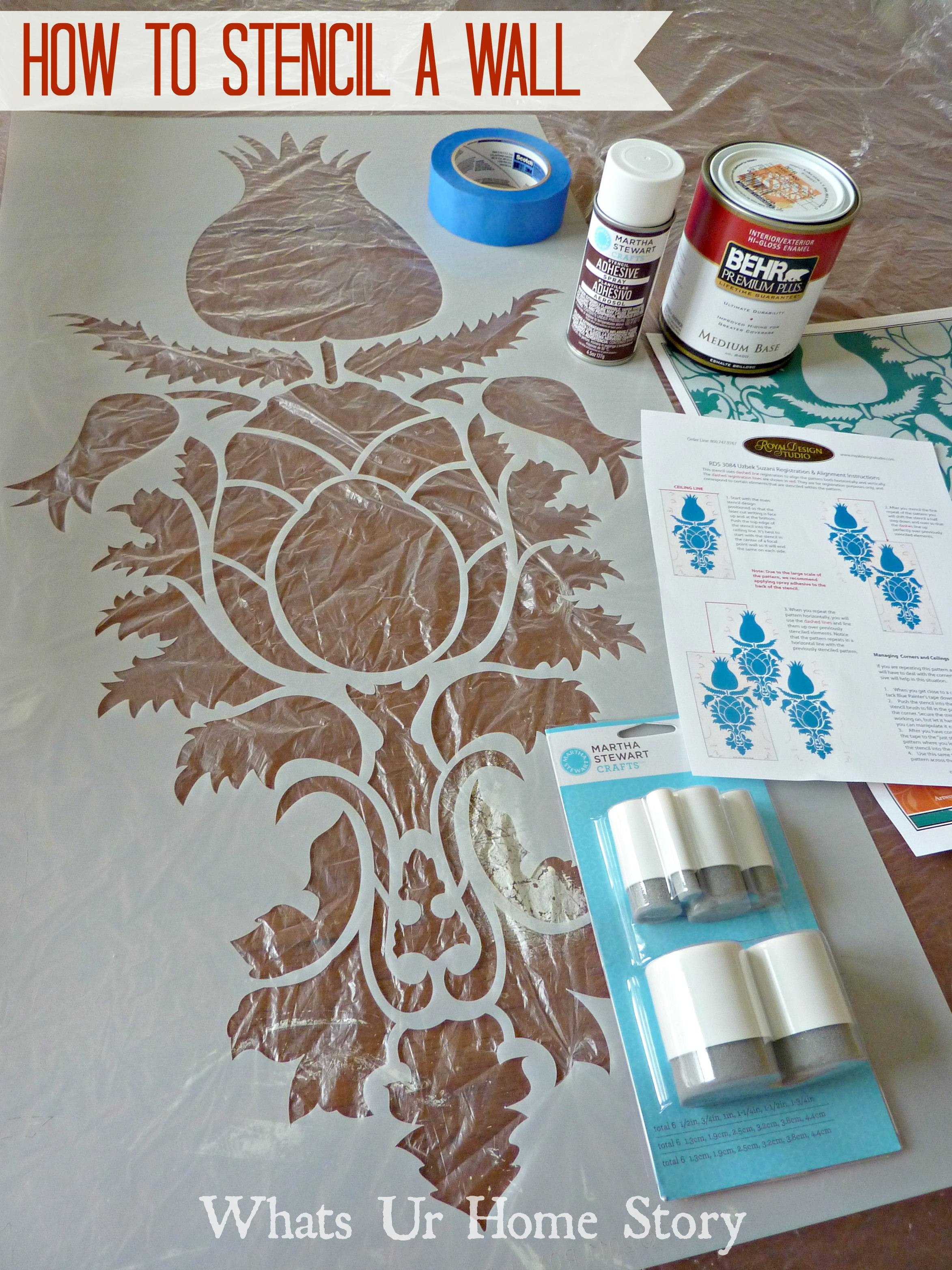 How to stencil a wall how to paint a room with stencil amipublicfo Gallery