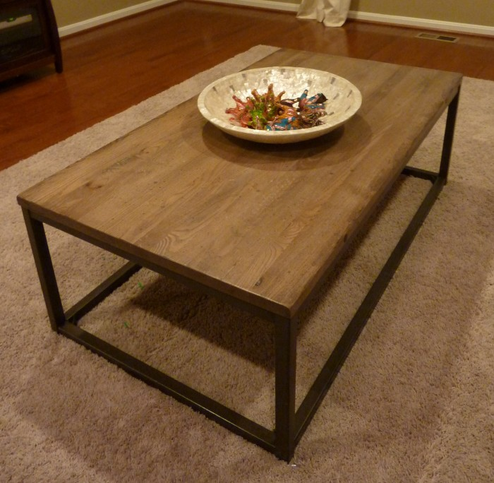 Restoration Hardware Brickmakers Table Knock Off Whats Ur Home Story - Brickmakers coffee table