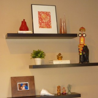 decorate book shelves