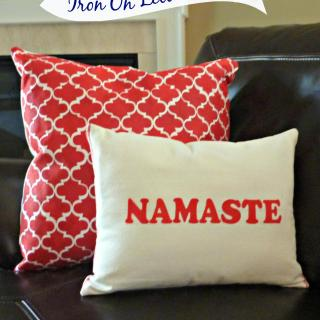 DIY Pillow Using Iron on Letters – Namaste Pillow