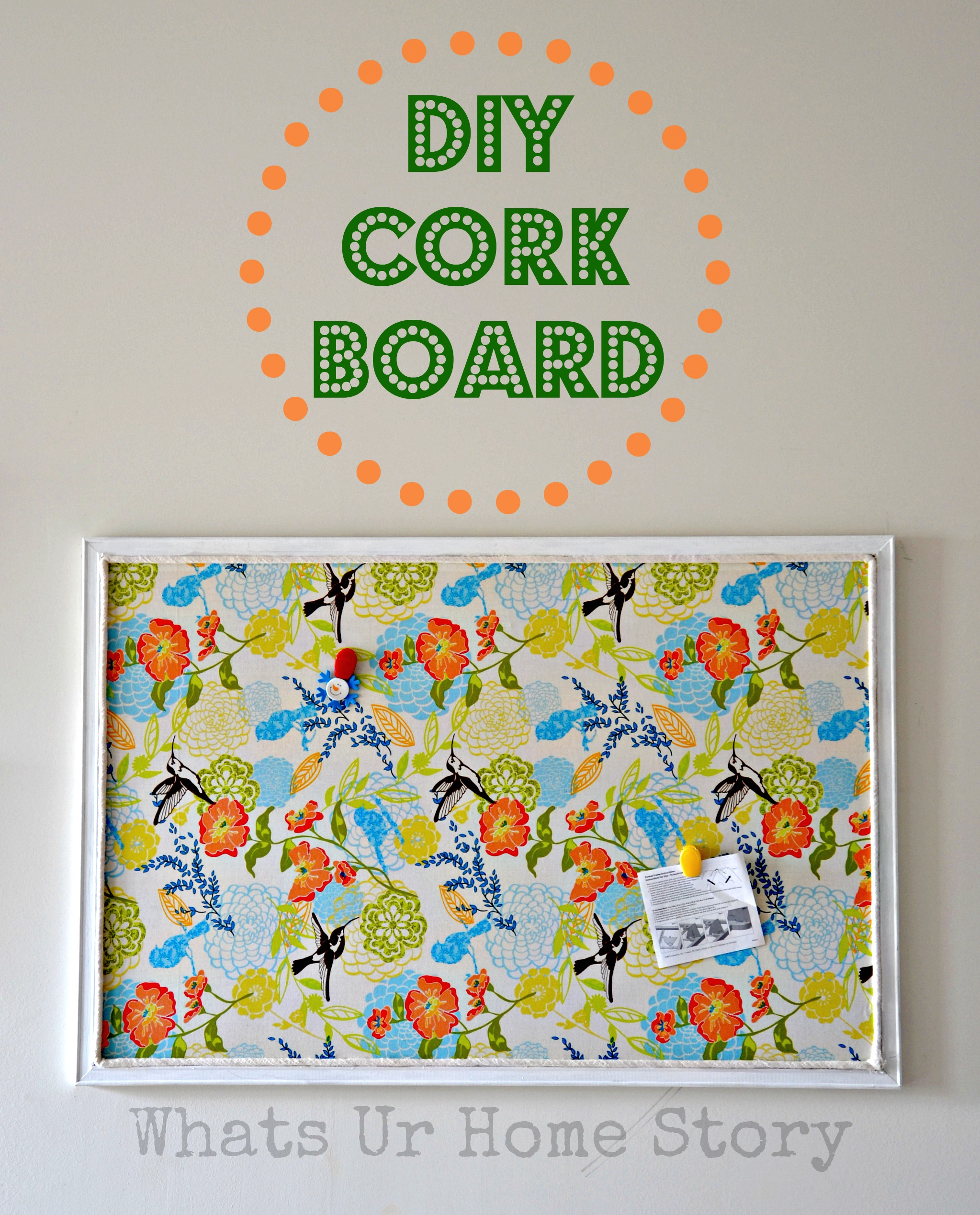 Diy bulletin board tutorial for How to make a bulletin board without cork