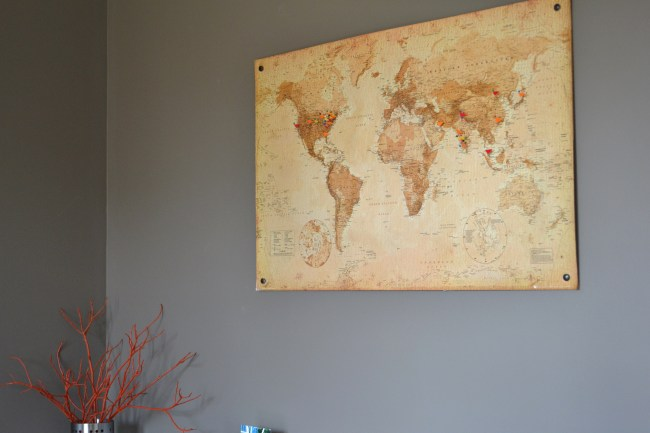 DIY Cork Board Map