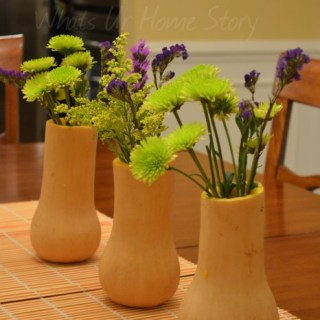 Butternut Squash Vase, Simple centerpiece, gourd vase