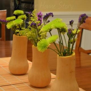Butternut Squash Vase, Simple centerpiece, gourd vase