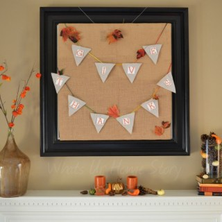 Whats Ur Home Story: Thanksgiving Mantel