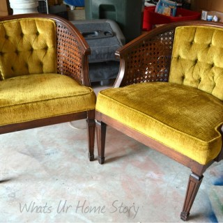 Cane back chairs, Cane back chair makeover