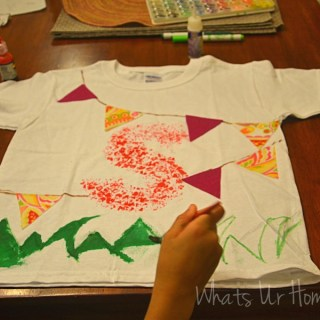 Whats Ur Home Story: Bubble wrap art project