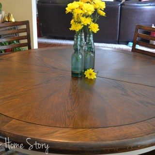 How to Stain Wood Tutorial, Refinished walnut breakfast table, how to stain a wood table top, Stain Furniture