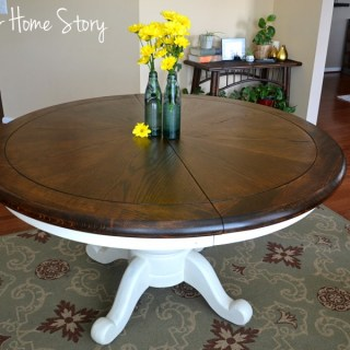 Refinished walnut breakfast table, How to Stain Wood Tutorial, Stain Furniture, chalk paint table makeover