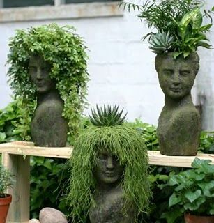 bust planters