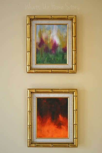 Art on the Wall  Reuse Vintage Frames
