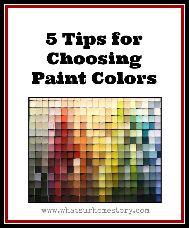 5 Tips On How To Choose Paint Colors