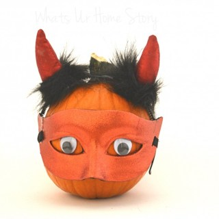 Whats Ur Home Story: Devil Pumpkin, Halloween decor
