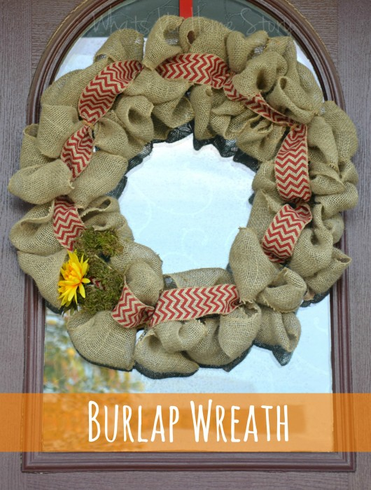 how to reuse burlap ribbon
