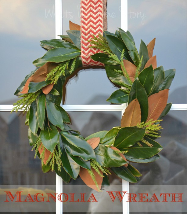 Magnolia Wreath | Whats Ur Home Story